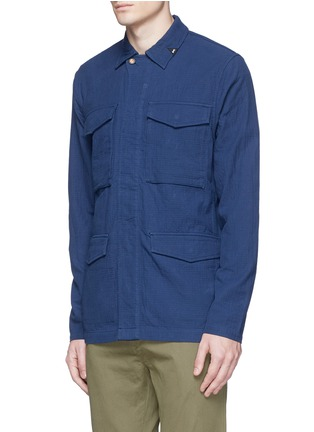 Front View - Click To Enlarge - Denham - 'James' cotton dobby field jacket