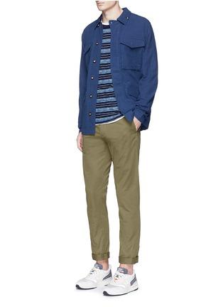 Figure View - Click To Enlarge - Denham - 'James' cotton dobby field jacket
