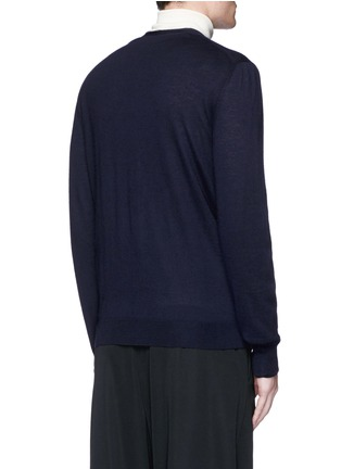 Back View - Click To Enlarge - Alexander McQueen - Skull embroidery cashmere cardigan