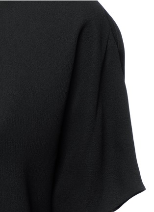 Detail View - Click To Enlarge - Vince - Pintuck pleat V-neck blouse