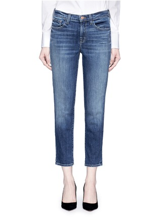 Detail View - Click To Enlarge - J Brand - 'Sadey Slim Straight' cropped jeans