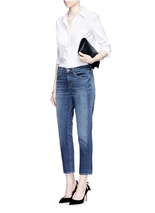 Figure View - Click To Enlarge - J Brand - 'Sadey Slim Straight' cropped jeans