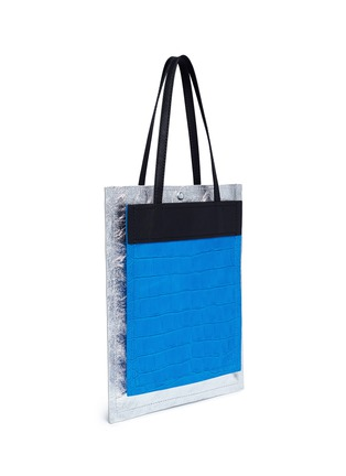 Detail View - Click To Enlarge - 3.1 Phillip Lim - 'Accordion Shopper' colourblock double compartment leather tote