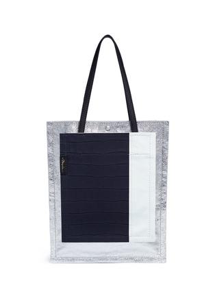 Main View - Click To Enlarge - 3.1 Phillip Lim - 'Accordion Shopper' colourblock double compartment leather tote