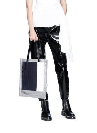 Figure View - Click To Enlarge - 3.1 Phillip Lim - 'Accordion Shopper' colourblock double compartment leather tote
