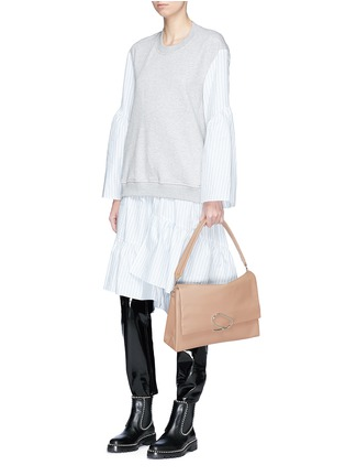 Figure View - Click To Enlarge - 3.1 Phillip Lim - 'Alix' paperclip flap oversized leather crossbody bag