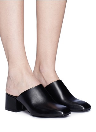 Figure View - Click To Enlarge - 3.1 Phillip Lim - 'Cube' leather square toe mules