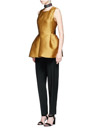 Figure View - Click To Enlarge - Lanvin - Techno satin peplum top