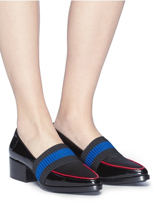 Figure View - Click To Enlarge - 3.1 Phillip Lim - 'Quinn' web strap patent leather pumps