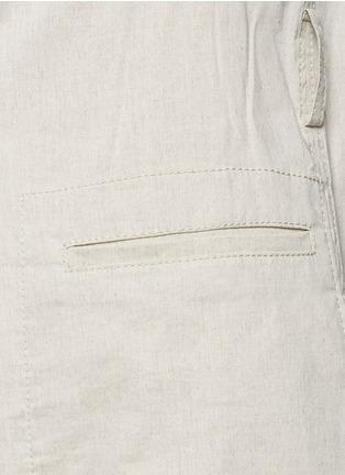 Detail View - Click To Enlarge - Theory - 'Skea' tie waist linen blend long vest