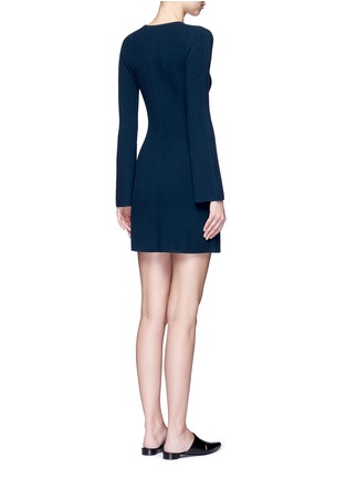 Back View - Click To Enlarge - THEORY - 'Ardesia' rib knit swing dress