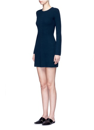Front View - Click To Enlarge - Theory - 'Ardesia' rib knit swing dress