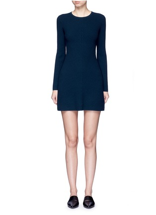 Main View - Click To Enlarge - Theory - 'Ardesia' rib knit swing dress