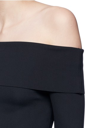 Detail View - Click To Enlarge - The Row - 'Nania' scuba jersey off-shoulder dress