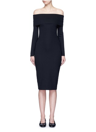 Main View - Click To Enlarge - The Row - 'Nania' scuba jersey off-shoulder dress