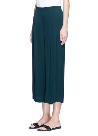 Front View - Click To Enlarge - Theory - 'Zavabell' cropped relaxed silk pants