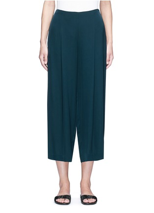 Main View - Click To Enlarge - Theory - 'Zavabell' cropped relaxed silk pants