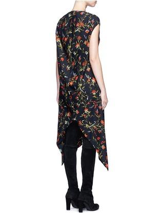 Back View - Click To Enlarge - Balenciaga - Cutout hem floral print dress