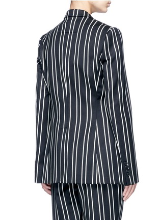 Back View - Click To Enlarge - Givenchy - Stripe wool suiting blazer