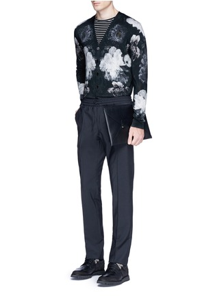 Figure View - Click To Enlarge - Alexander McQueen - Floral print wool-silk cardigan