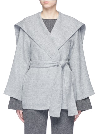 Main View - Click To Enlarge - The Row - 'Draley' cape collar alpaca-virgin wool jacket