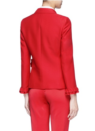 Back View - Click To Enlarge - GUCCI - Ruffle trim cady suit jacket