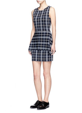 Figure View - Click To Enlarge - Theory - 'Kalora' plaid knit peplum top