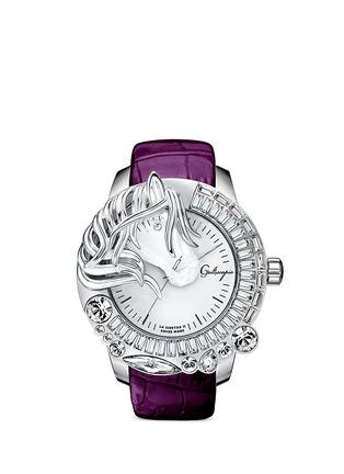 Main View - Click To Enlarge - Galtiscopio - 'La Giostra II' crystal horse watch