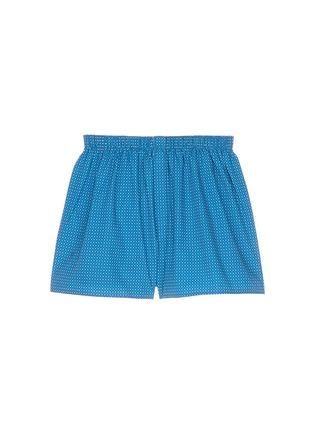 Main View - Click To Enlarge - Sunspel - Honeycomb print boxer shorts