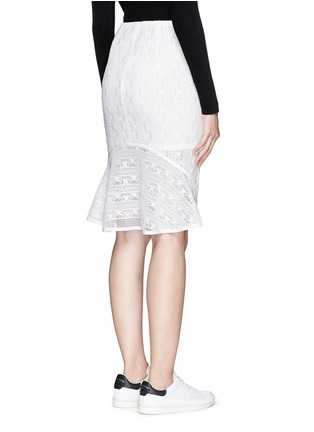 Back View - Click To Enlarge - Mo&Co. - Back peplum hem guipure lace skirt
