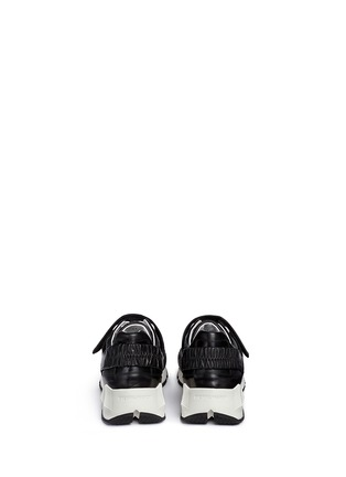 Back View - Click To Enlarge - Pierre Hardy - 'Comet' cube midsole leather sneakers