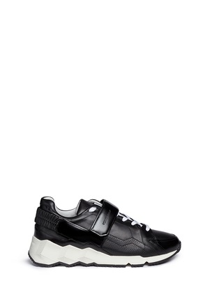 Main View - Click To Enlarge - Pierre Hardy - 'Comet' cube midsole leather sneakers