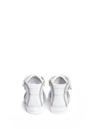 Back View - Click To Enlarge - PIERRE HARDY - 'Les Baskets' perforated leather high top sneakers