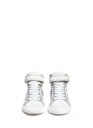 Front View - Click To Enlarge - PIERRE HARDY - 'Les Baskets' perforated leather high top sneakers