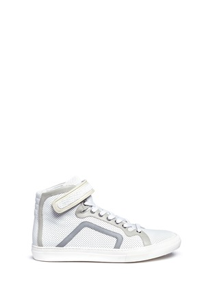 Main View - Click To Enlarge - PIERRE HARDY - 'Les Baskets' perforated leather high top sneakers