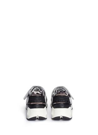 Back View - Click To Enlarge - Pierre Hardy - 'Comet' camouflage cube print leather sneakers