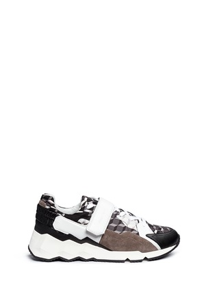 Main View - Click To Enlarge - Pierre Hardy - 'Comet' camouflage cube print leather sneakers