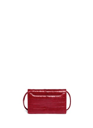 Back View - Click To Enlarge - Stalvey - Small alligator leather crossbody clutch