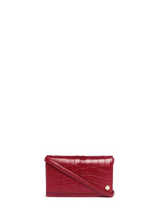 Main View - Click To Enlarge - Stalvey - Small alligator leather crossbody clutch