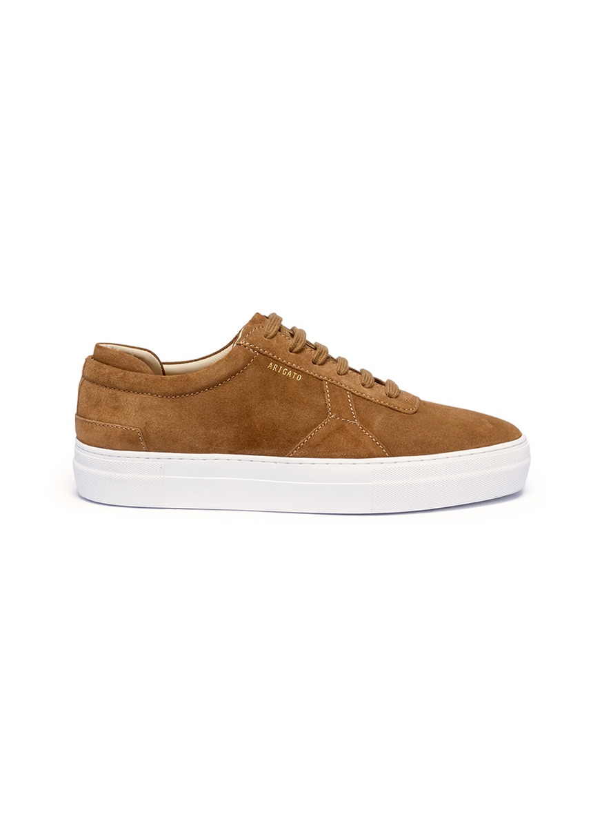 Logo print suede sneakers by Axel Arigato