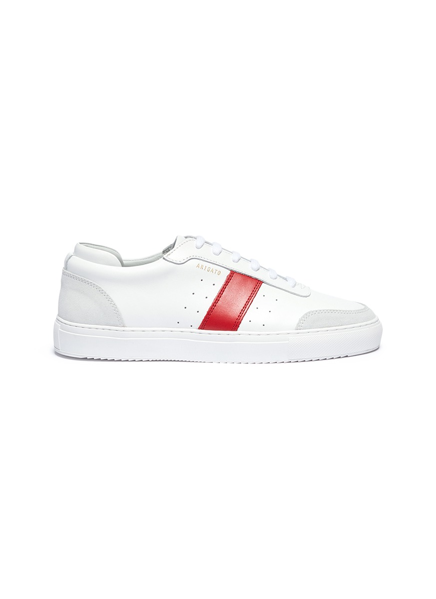 Dunk contrast stripe leather sneakers by Axel Arigato