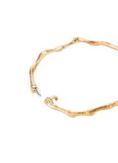 Anyallerie 'Entwined' diamond 18k rose gold bangle