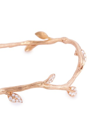 Detail View - Click To Enlarge - Anyallerie - 'Entwined' diamond 18k rose gold branch bangle