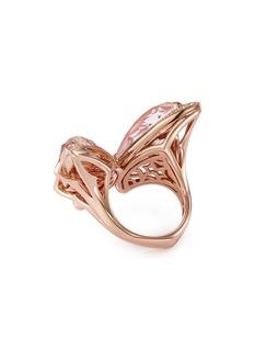 Stephen Webster 'Crystal Haze' diamond crystal 18k rose gold ring