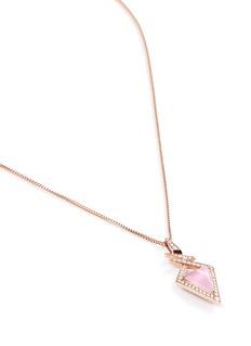 Stephen Webster Crystal Haze diamond geometric bolt pendant necklace