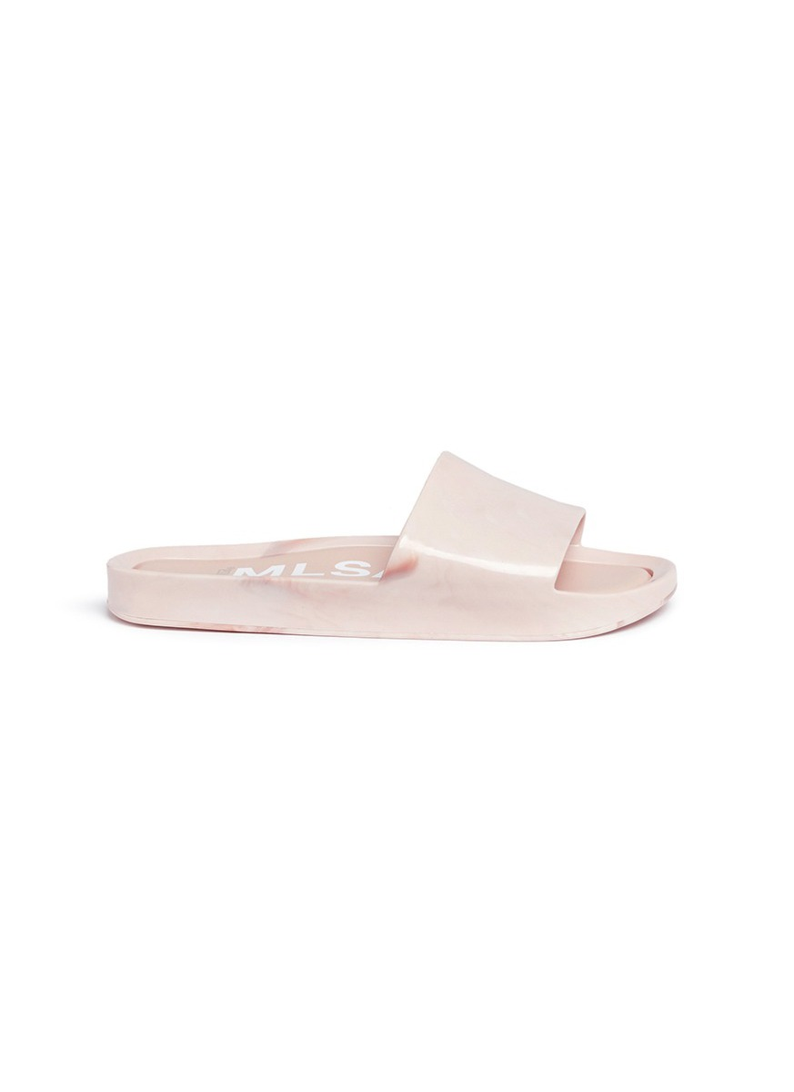 Photo of Beach Slide flocked PVC slides by Melissa womens shoes - buy Melissa footwear online