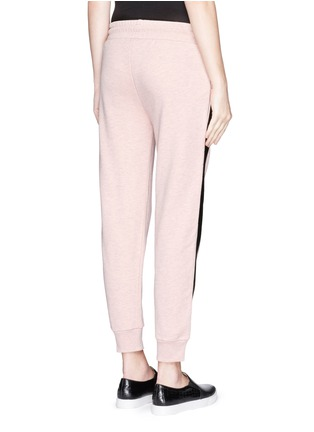 Back View - Click To Enlarge - McQ Alexander McQueen - Coated tuxedo stripe cotton terry sweatpants