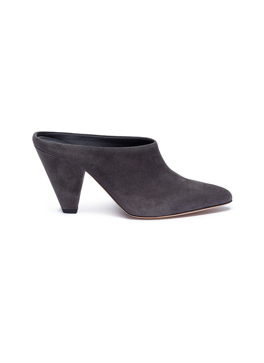 Emberly cone heel suede mules by Vince