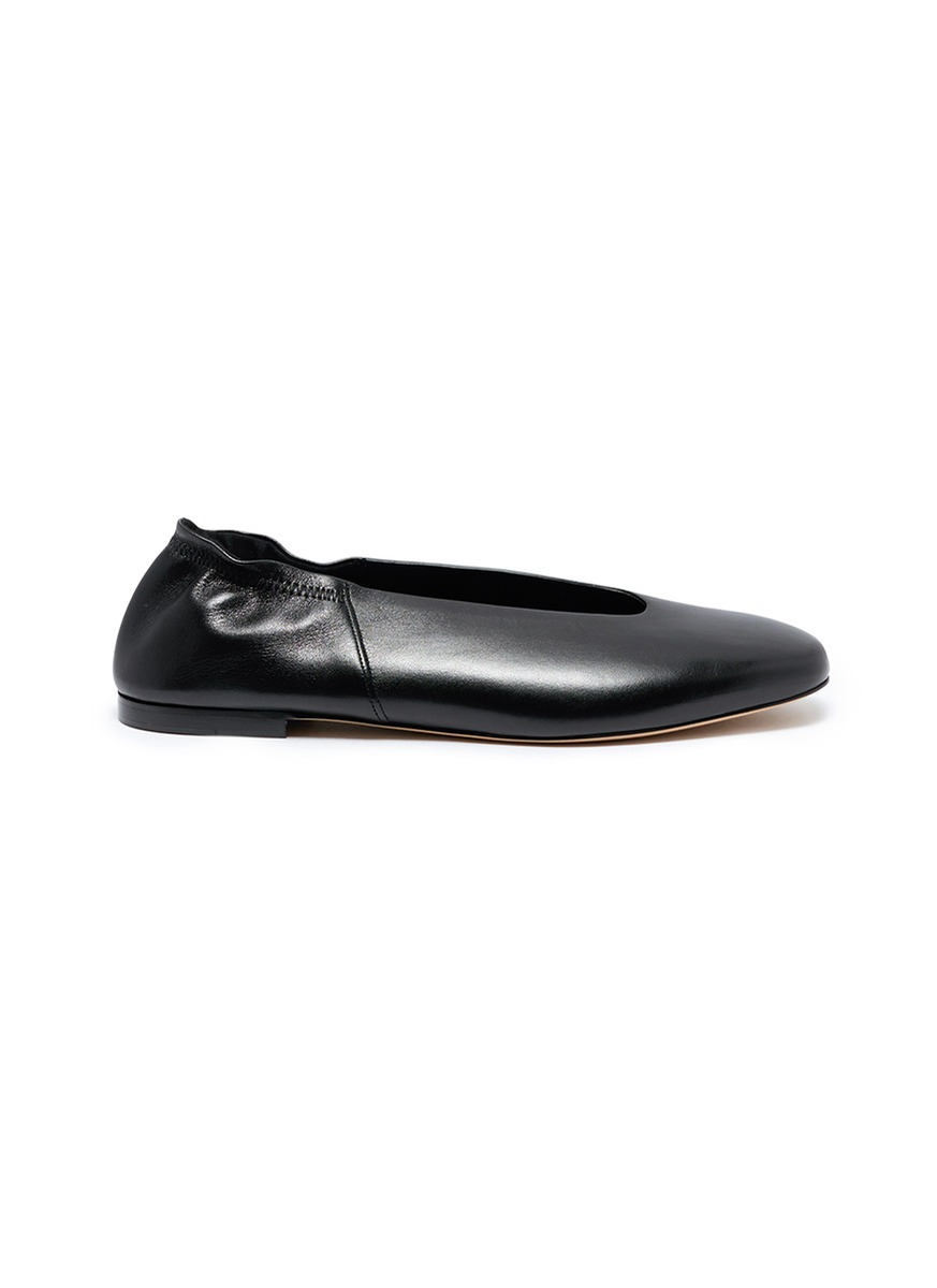 Lorelle choked-up leather ballet flats by Vince