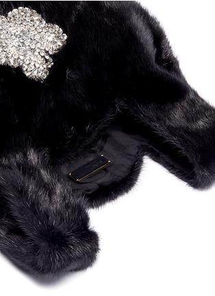 Detail View - Click To Enlarge - SIMONETTA RAVIZZA - 'Furrissima' crystal embellished mink fur sac bag
